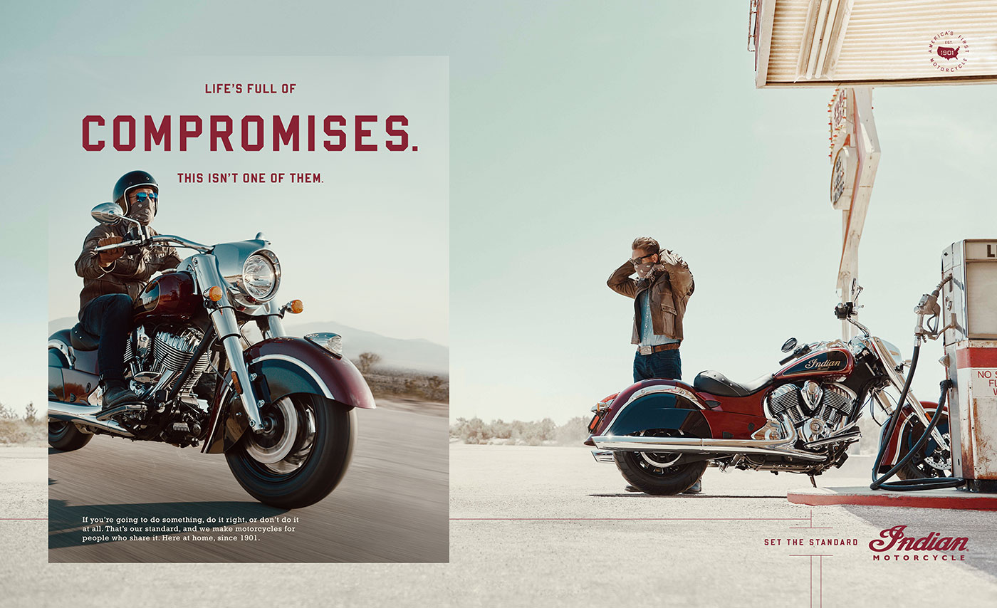 life is full of compromises. this isn't one of them. indian motorcycles