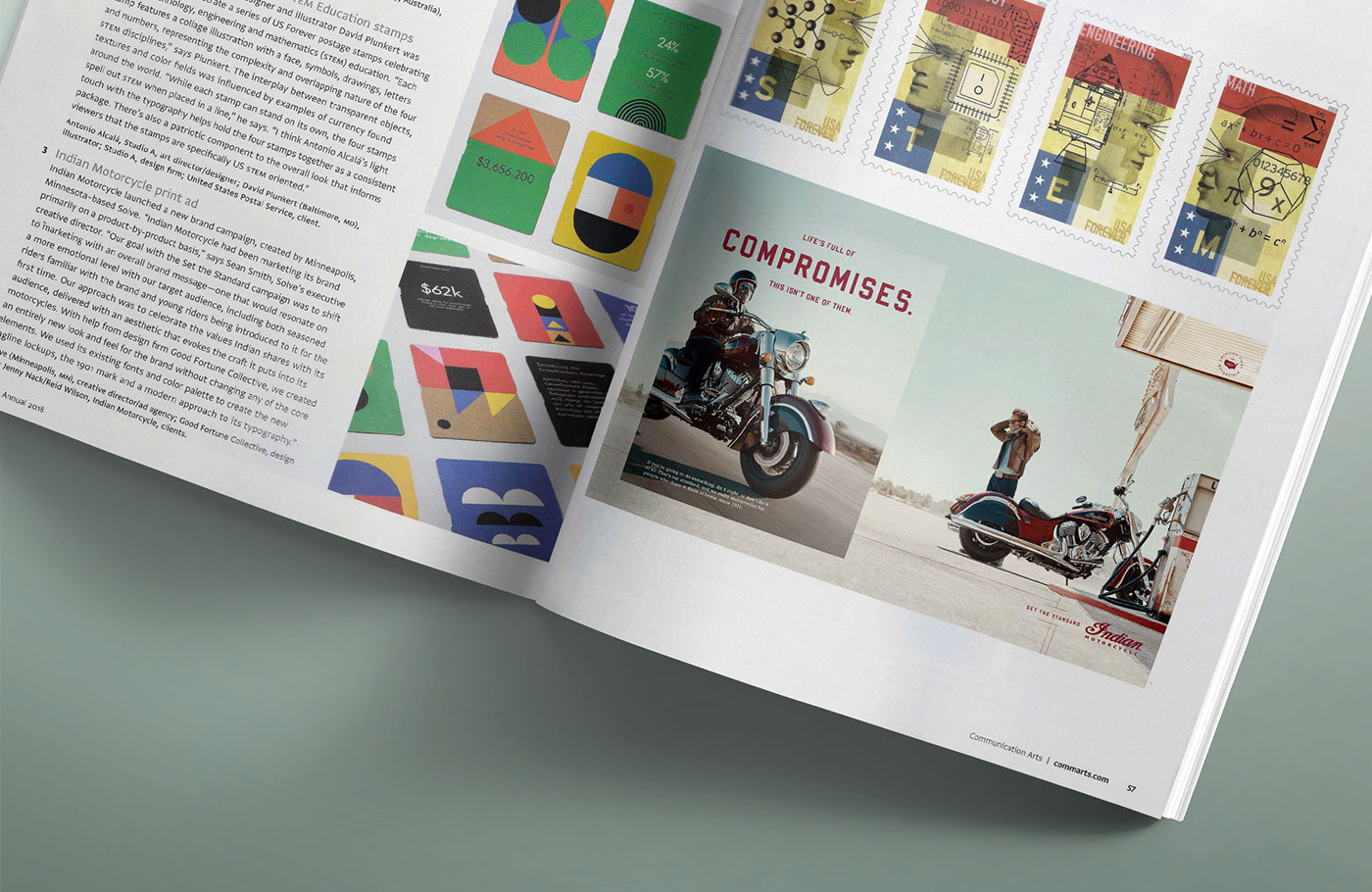 art and design print catalog, indian motorcycles